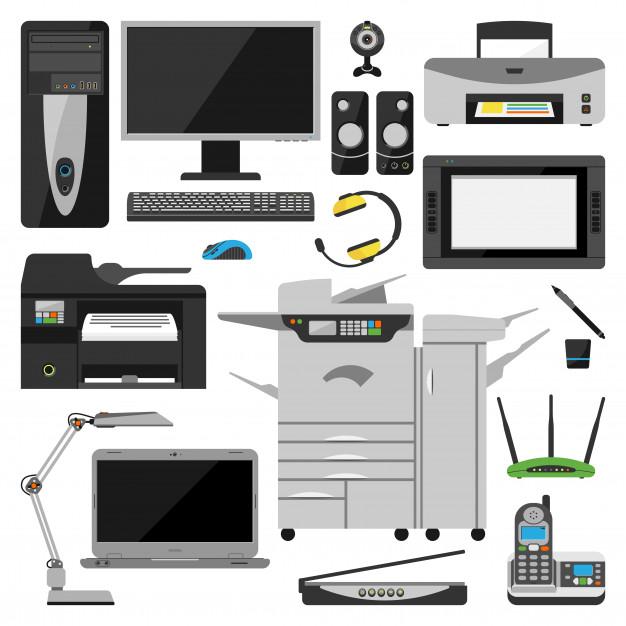 computer-office-equipment-vector_109709-45